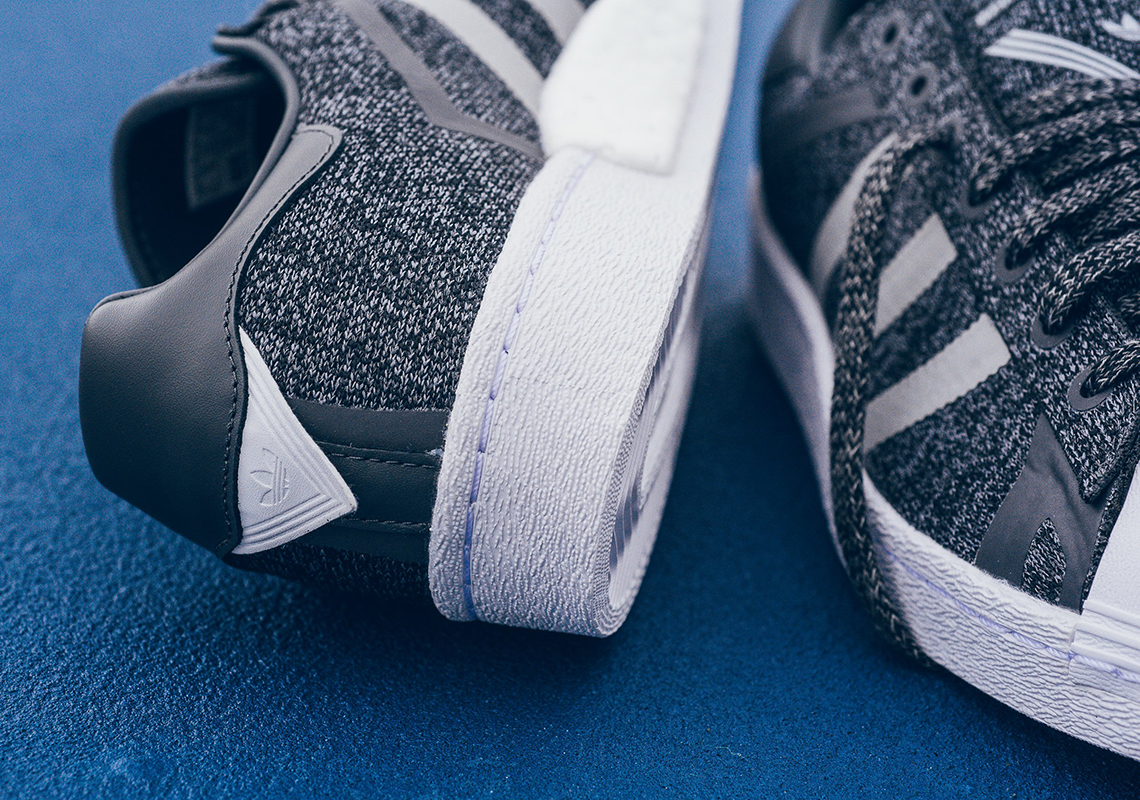 fbd18ed5d4e2 White Mountaineering x adidas Superstar BOOST  150. Color  Light Grey  Heather White Style Code  AQ0352