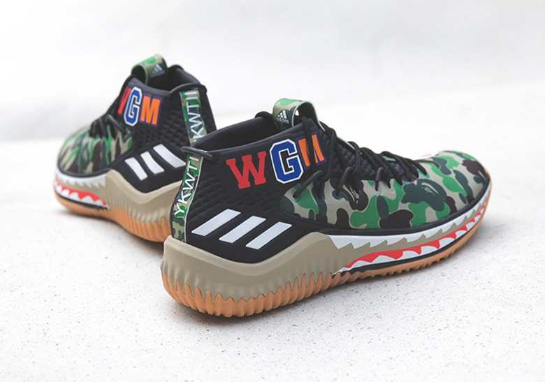 save off 8fd0a c069f BAPE x adidas Dame 4 Sneaker Boutique Release Info  SneakerN