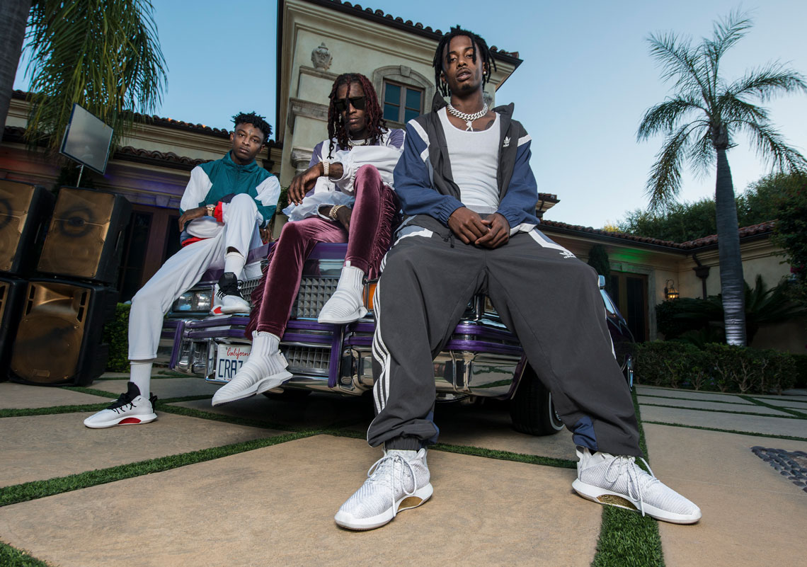 online retailer 72e33 45946 Playboy Carti, 21 Savage, And Young Thug Introduce Five adidas Originals  Crazy Sneakers. February 8 ...