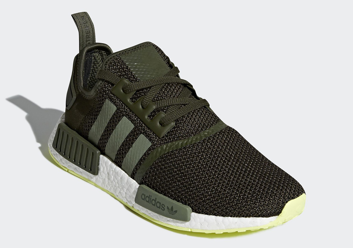 wholesale dealer bbca2 3433e adidas Pairs Night Cargo With Neon On The NMD R1