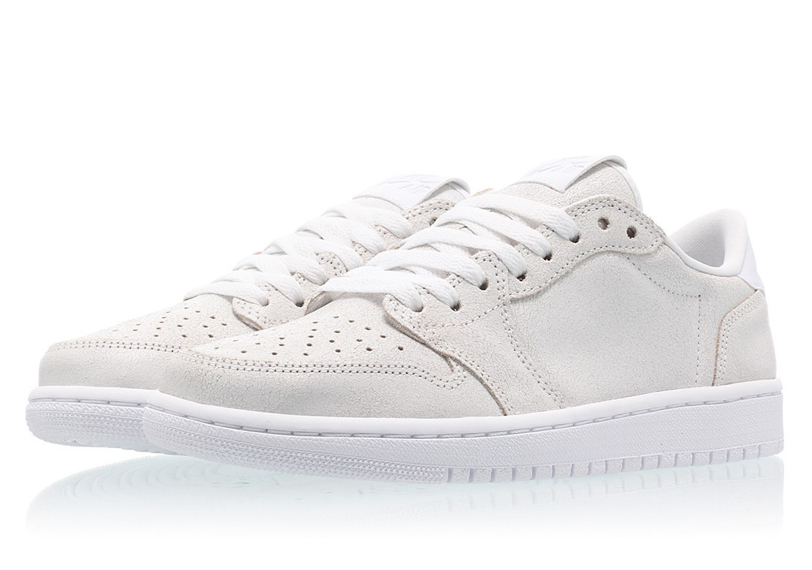 1a8de5f2d6391b The Swooshless Air Jordan 1 Low Is Releasing In Triple White ...