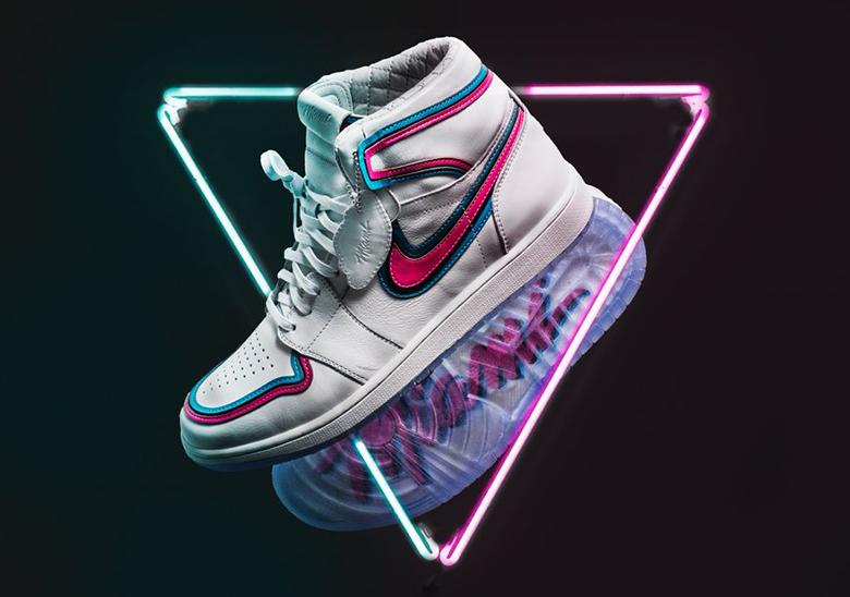 timeless design 63469 9364a Miami Heat Air Jordan 1
