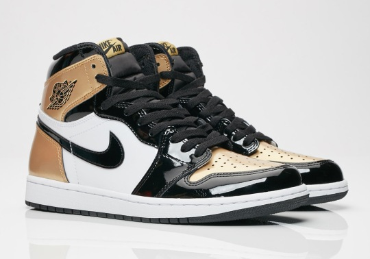 "The Air Jordan 1 Retro High OG NRG ""Gold Toe"" Is Arriving At Retailers"