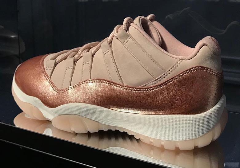 rose gold jordan shoes