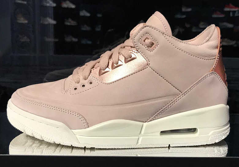 Air Jordan 3 Women's Exclusive Pink Rose Gold | SneakerNews.com