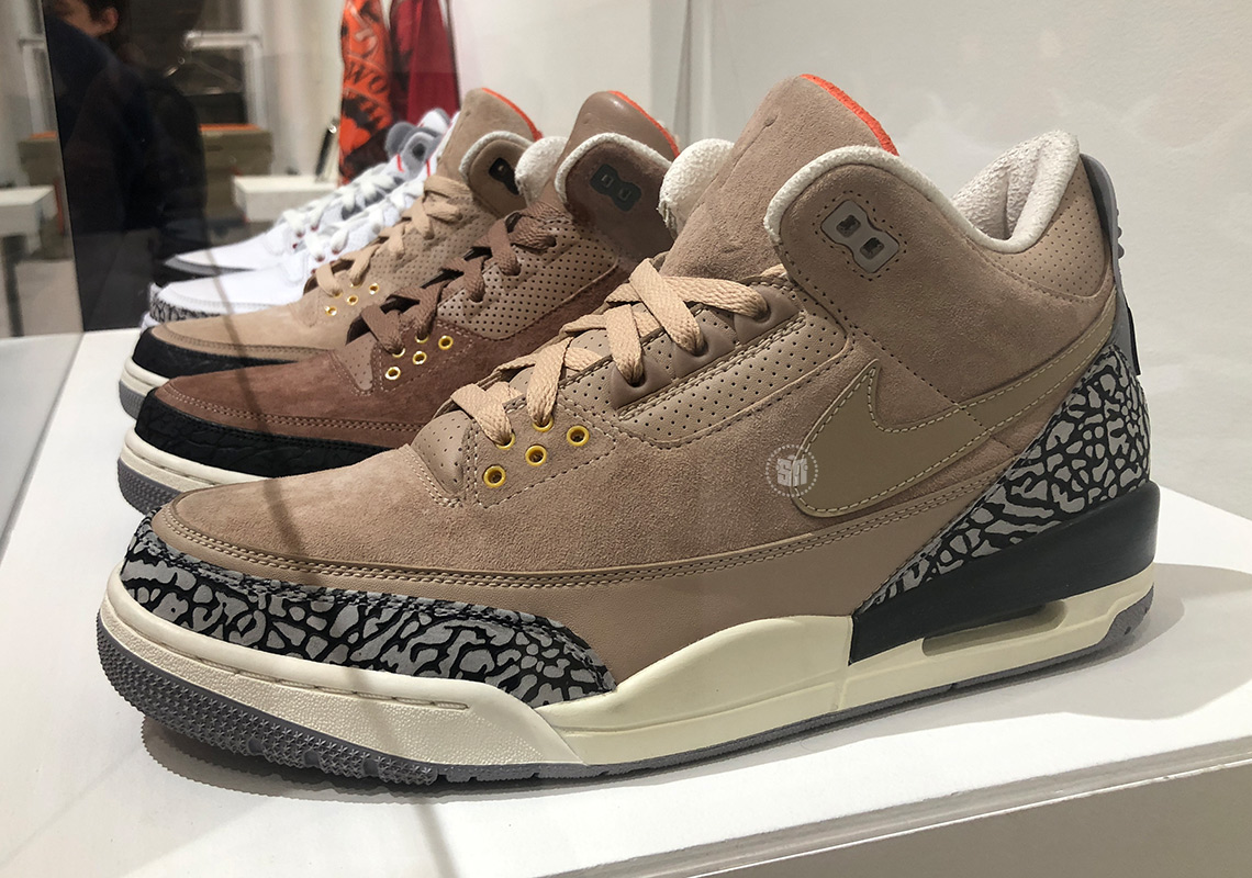 c4ec43d9b5b1ad Air Jordan 3 Samples On Display Inside Justin Timberlake s Man Of The Woods  Pop-Up