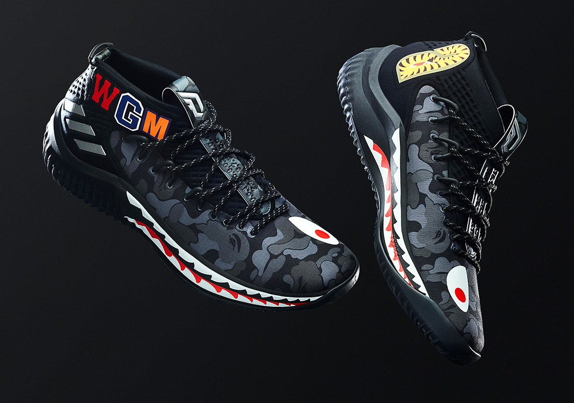 best cheap e73fe b04ab BAPE adidas Dame 4 Release Info  SneakerNews.com