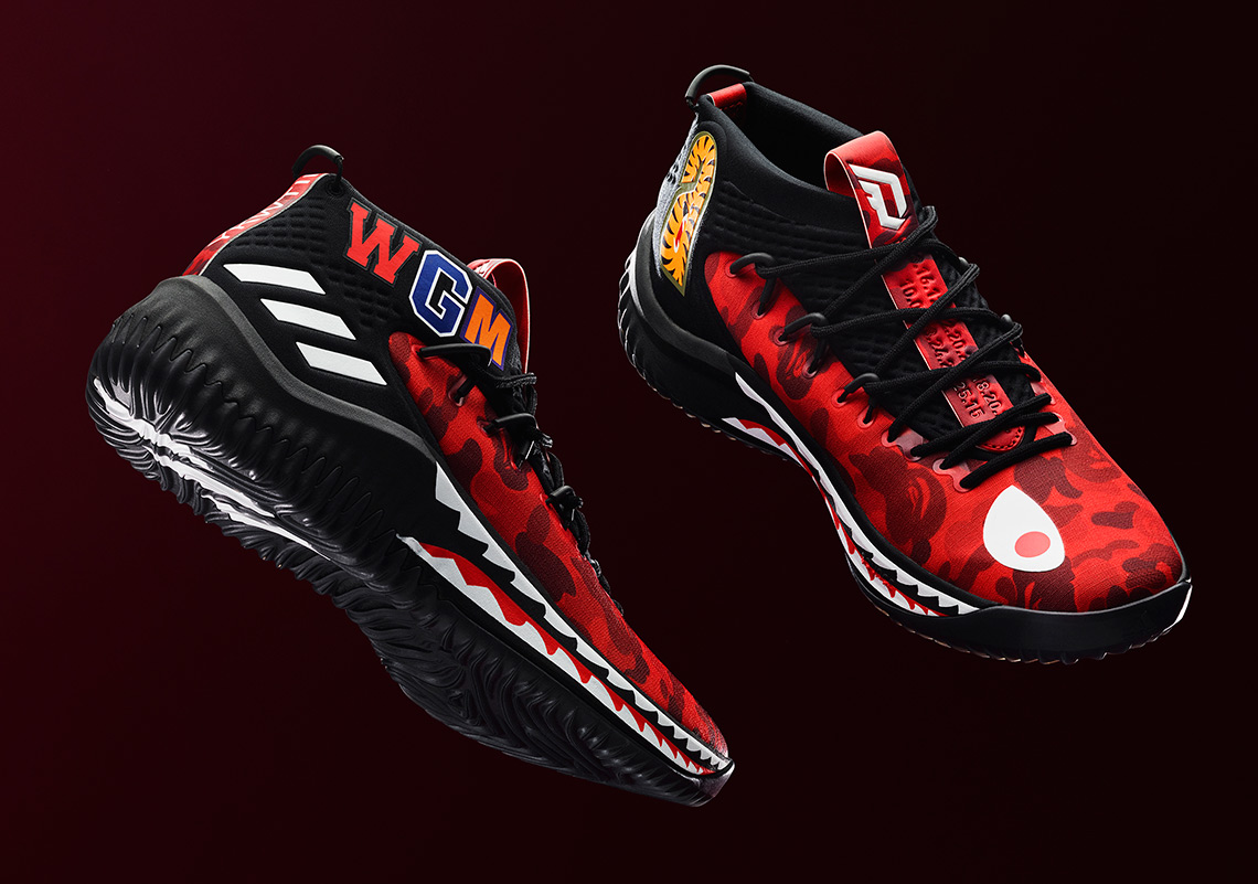 BAPE x adidas Dame 4. Release Date  February 16th 9958a6e0af