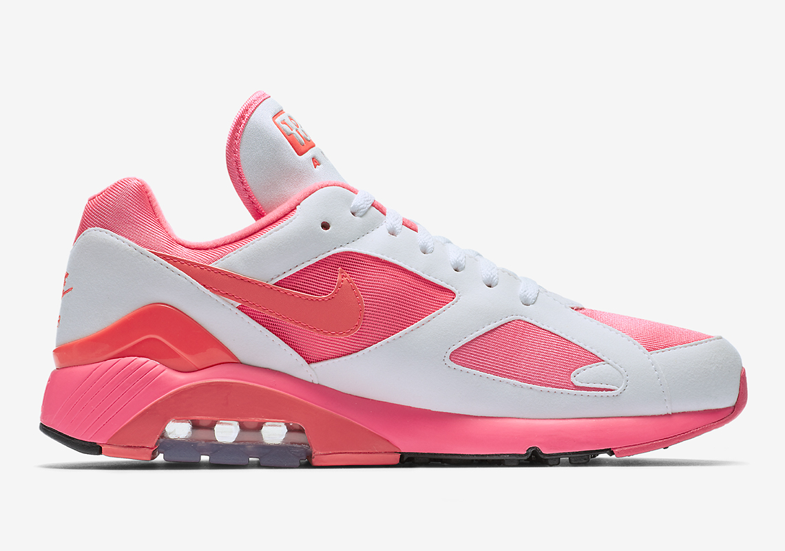 the best attitude 8cc6f a71b5 Nike Air Max 180   CDG Release Date  February 1st, 2018. Available now at  Stadium Goods Color  Laser Pink Solar Red-Pink Rise Style Code  AO4641-602
