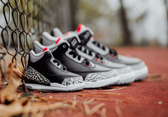"Air Jordan 3 ""Black/Cement"" Complete Size And Price Info"