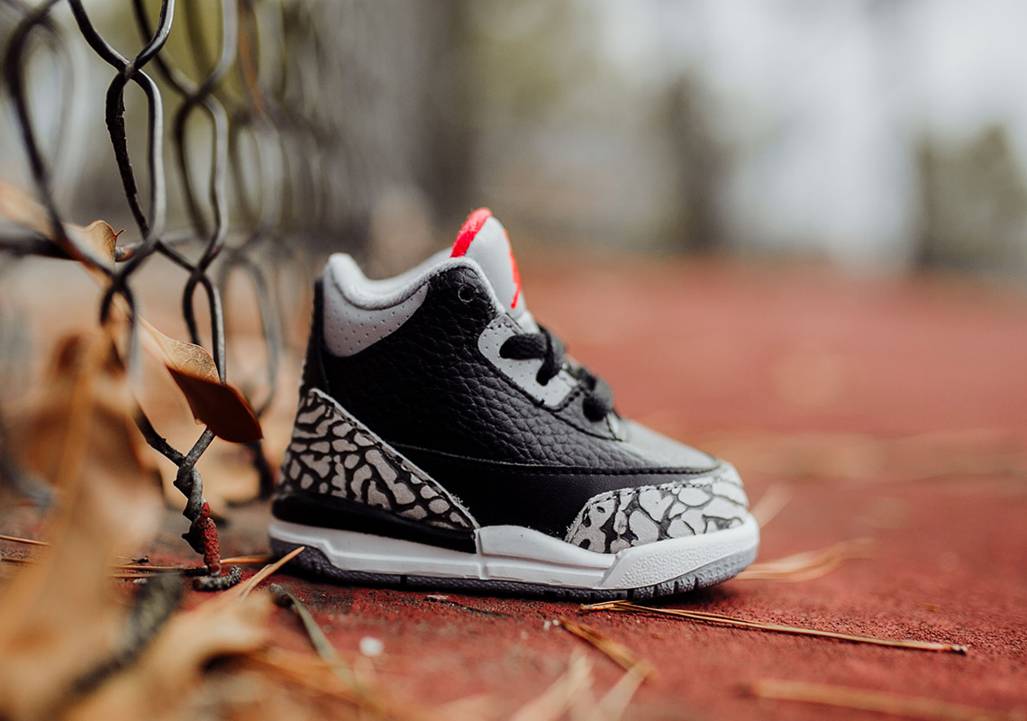 Air Jordan 3 Black Cement - Full Sizing + Price Info  061c84a53