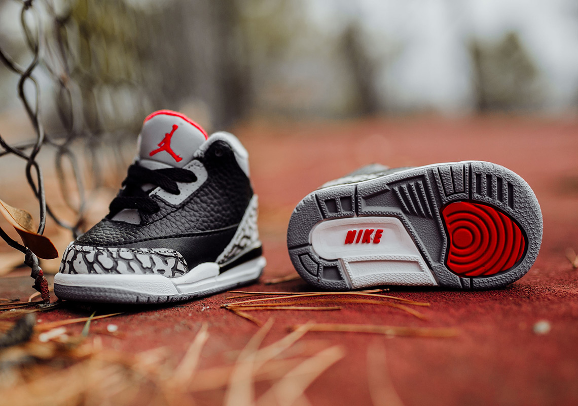 best service 1296e b927d Air Jordan 3 Black Cement - Full Sizing + Price Info ...