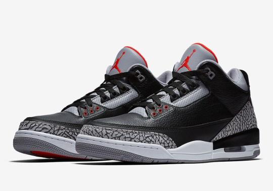 "Where to Buy: Air Jordan 3 ""Black/Cement"""