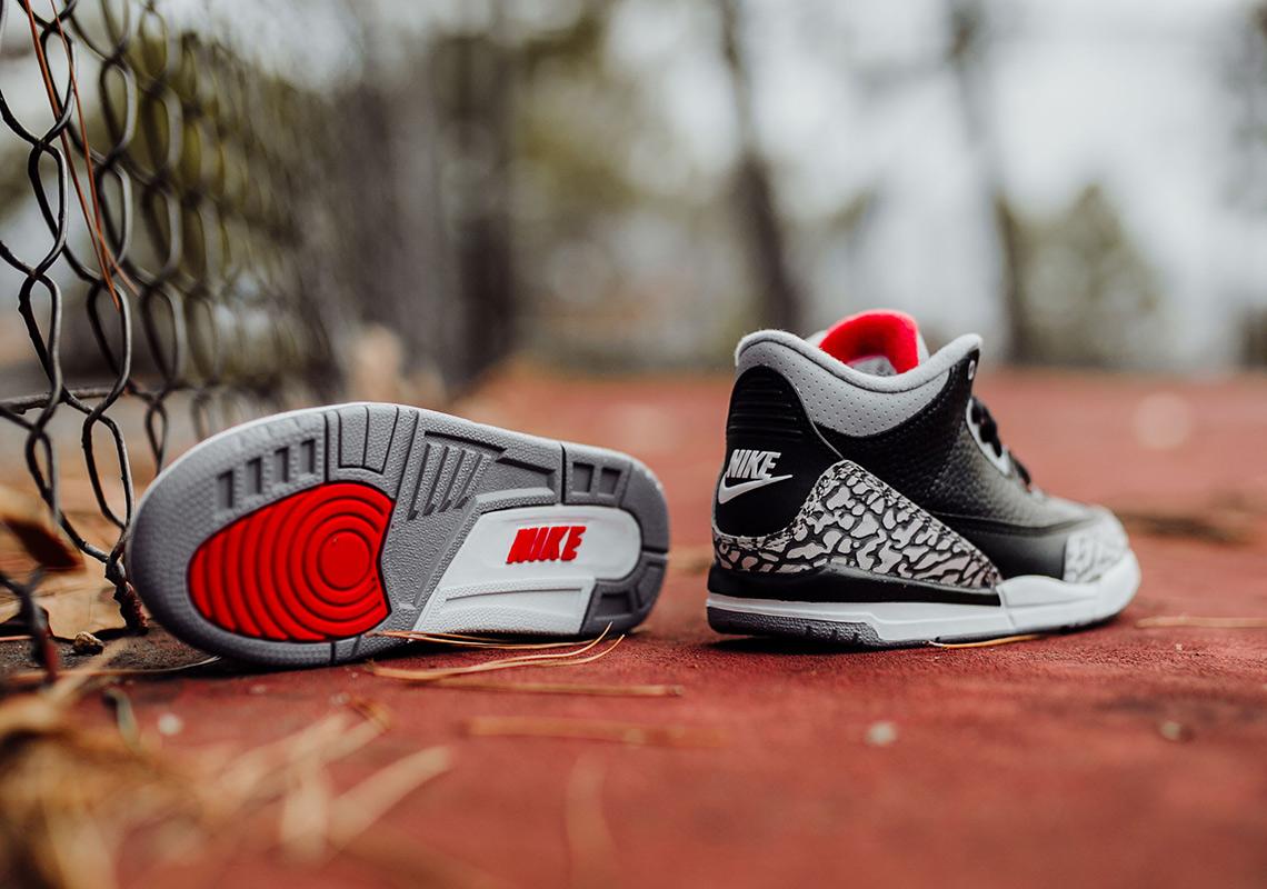 9a36e01546a Air Jordan 3 Black Cement - Full Sizing + Price Info