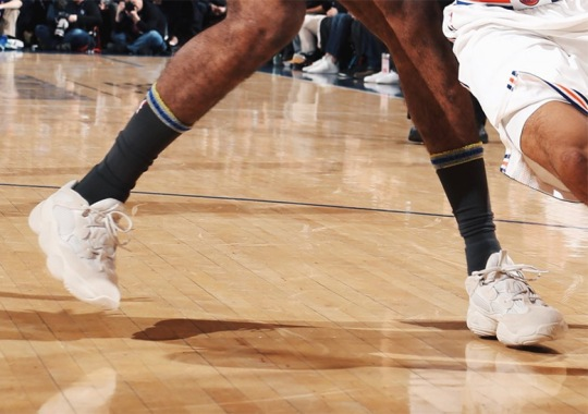 "Nick Young Wears adidas Yeezy 500 ""Blush"" Against The Knicks"