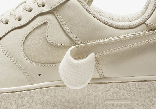 The Nike Air Force 1 With Replaceable Swooshes Releases Next Week