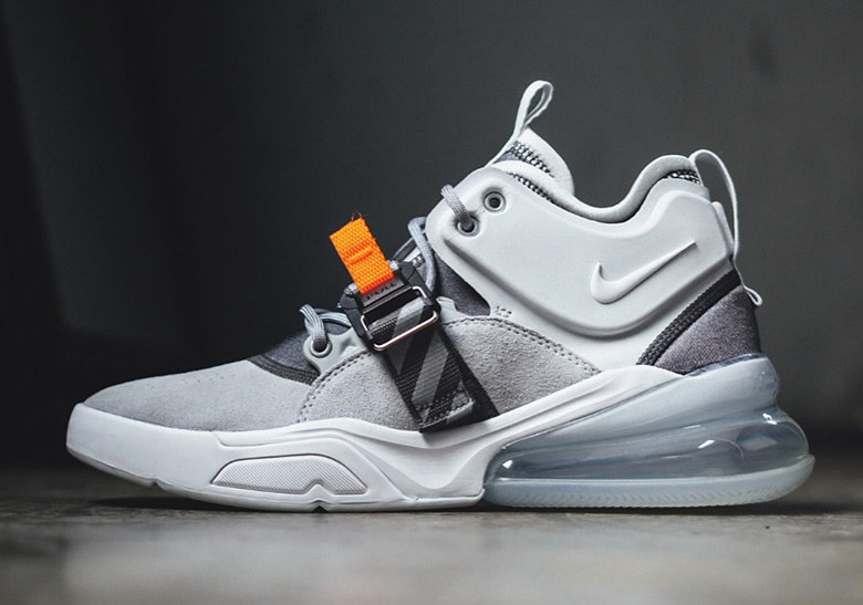 Nike Air Force 270 Vintage Box Logo Grey Orange  SneakerNews