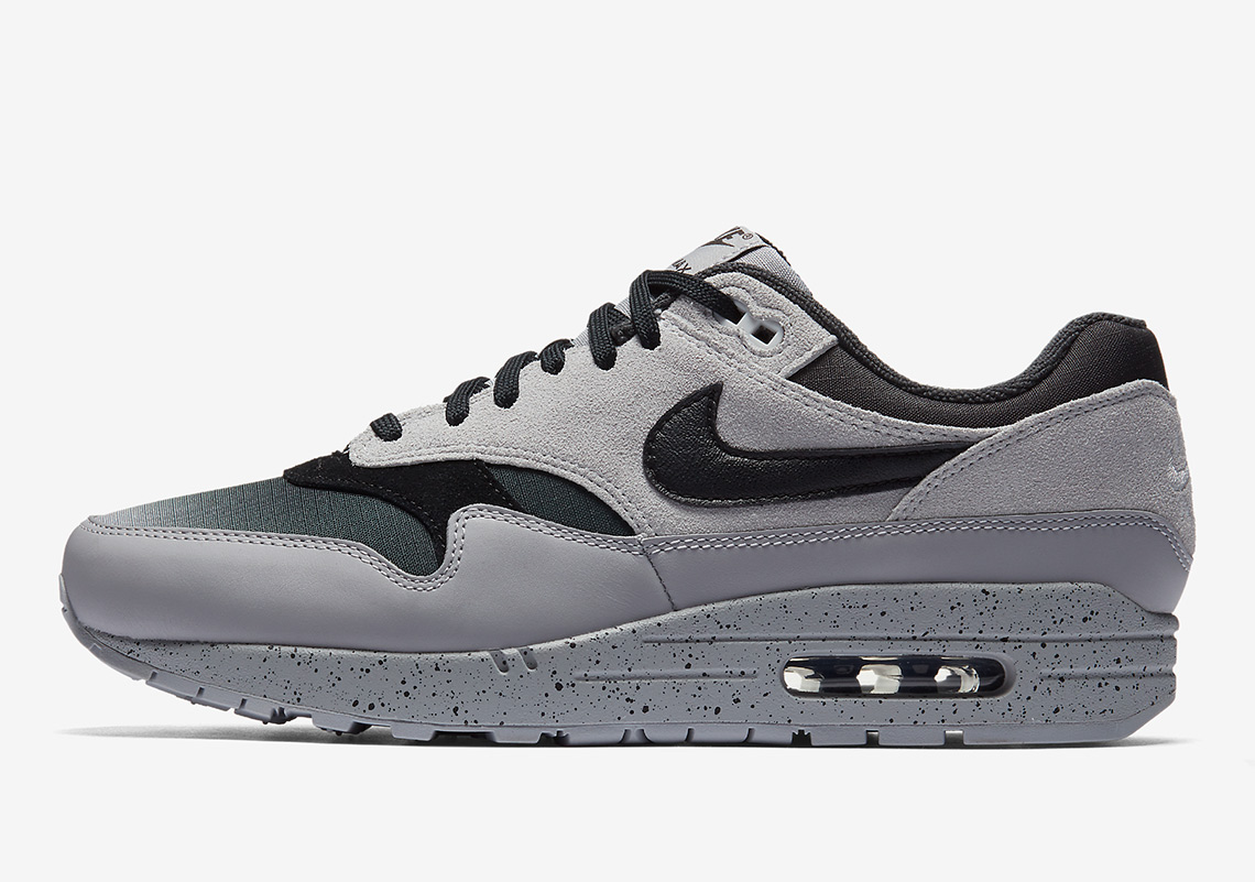 61da4707b8e Nike Air Max 1. AVAILABLE AT Nike $130. Color: Pure Platinum/Wolf  Grey/Anthracite/Black