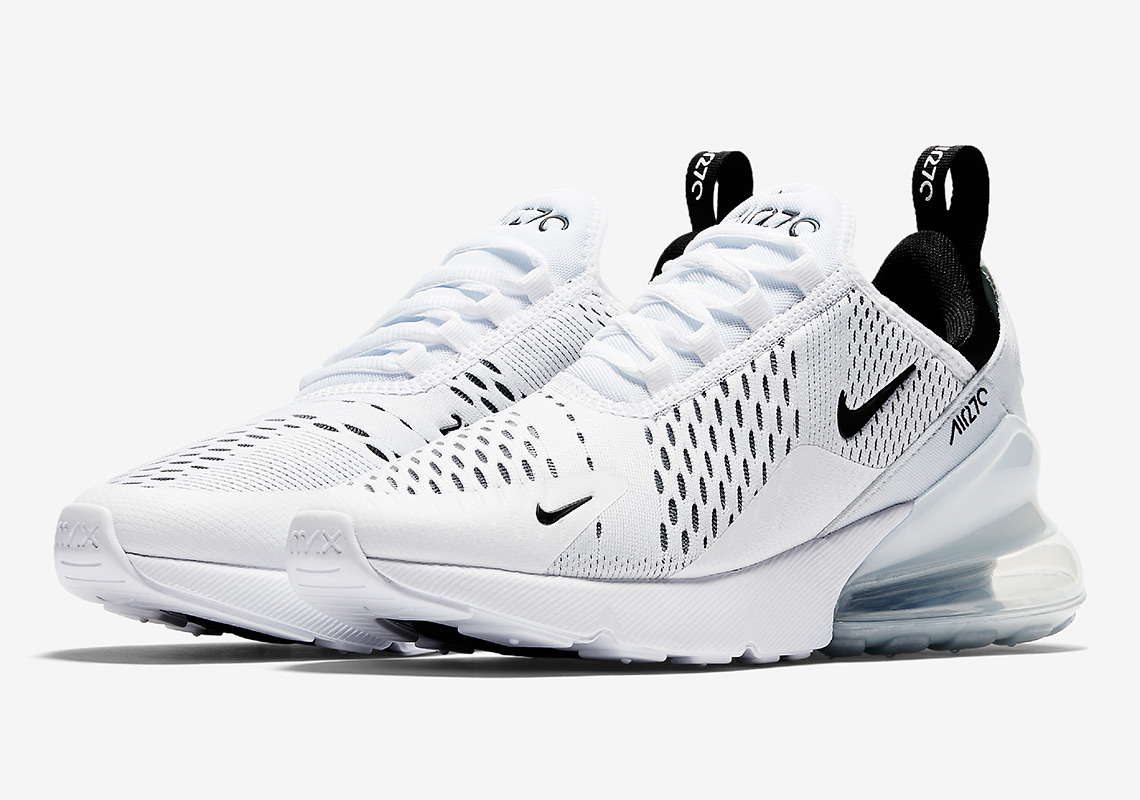 Nike W Air Max 270 White Black AH6789-100 Womens Running Shoes NIB