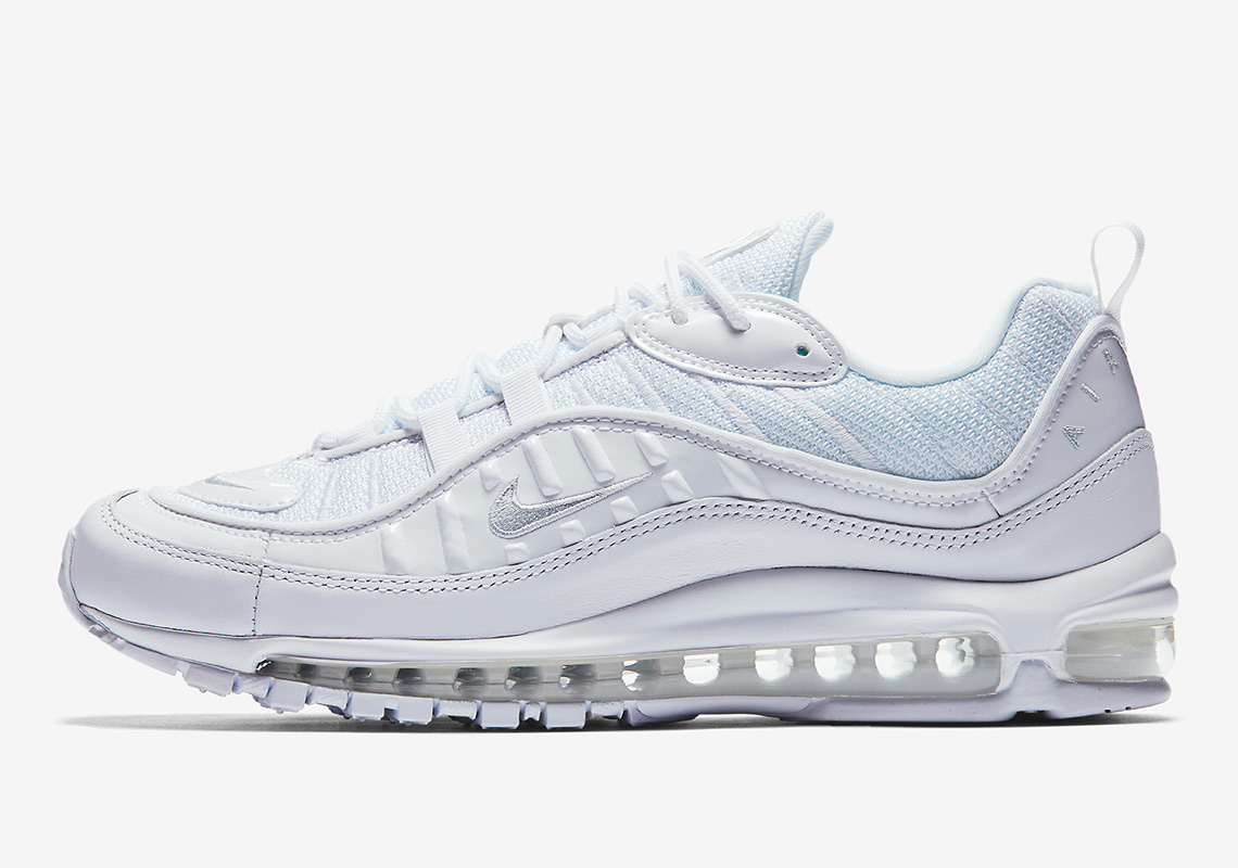 nike air max 98 triple white 640744 106 release info. Black Bedroom Furniture Sets. Home Design Ideas