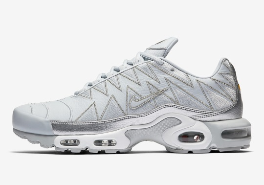 The Nike Air Max Plus With Zig Zag Uppers Is Dropping In Grey