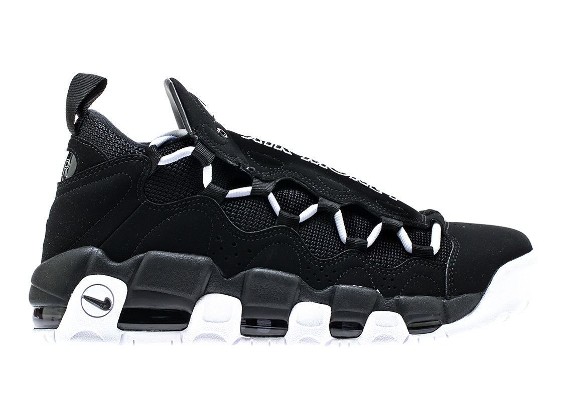 db111b8f1bc Nike Air More Money Black White Release Info