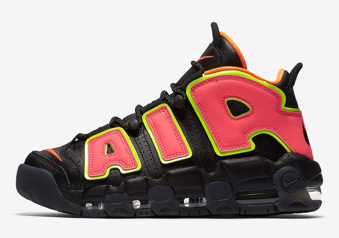 Nike Air More Uptempo Release Date: April, 2018 $160. Color: Black/Hot  Punch-Volt