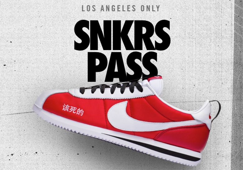 Kendrick Lamar Nike Cortez Kenny II SNKRS Pass Los Angeles