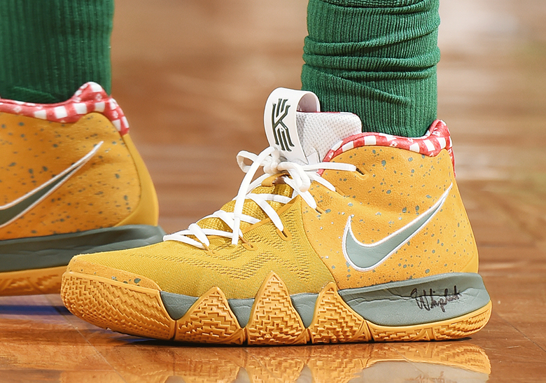 """Nike Kyrie 4 """"Yellow Lobster"""" PE House of Hoops Release Info   SneakerNews.com"""