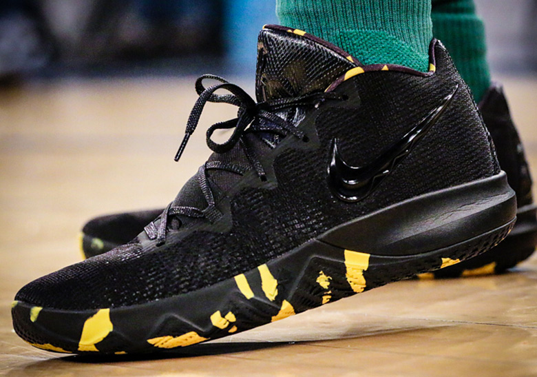 Nike Kyrie Core Black/Yellow First Look