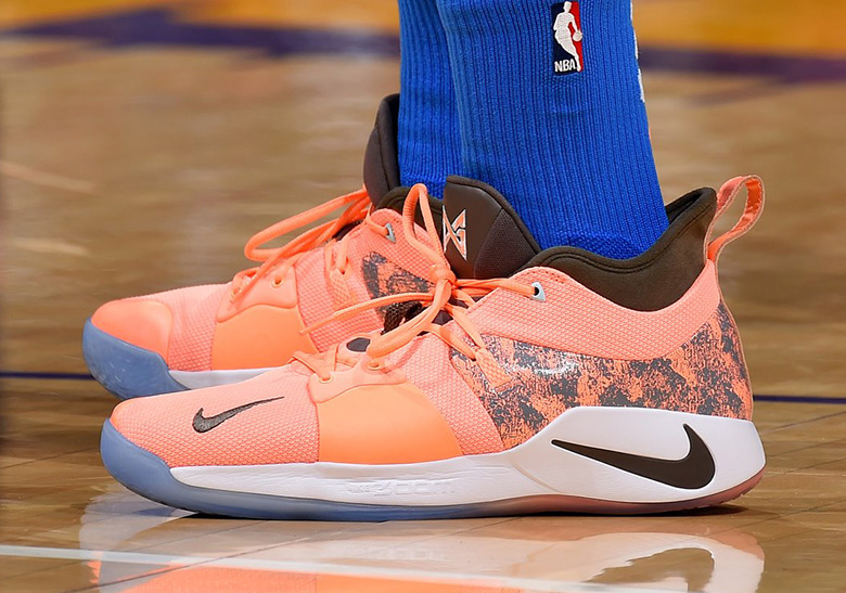 c27d60fcf326 Paul George Debuts A Nike PG 2 PE Against The Lakers