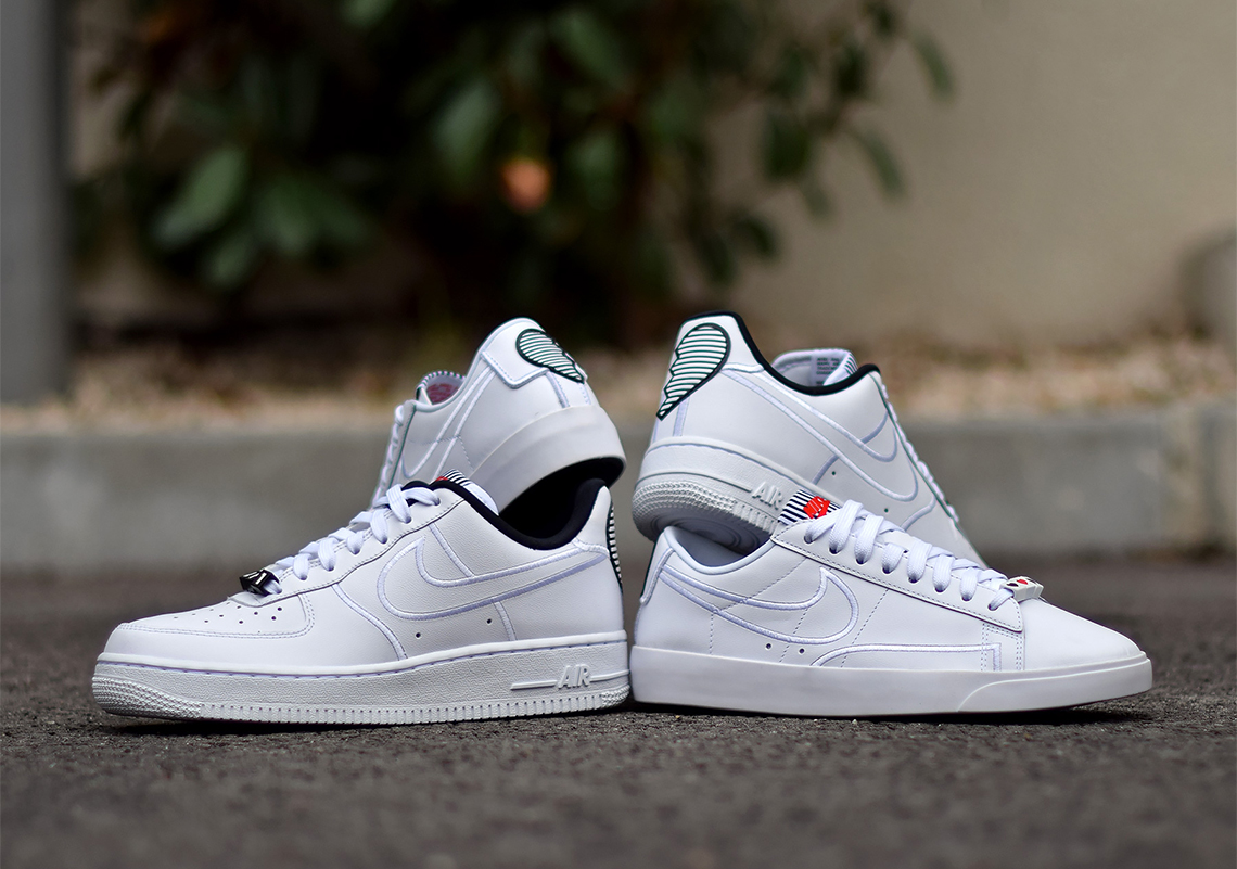 Nike Valentines Day Pack Broken Hearts WMNS Air Force 1