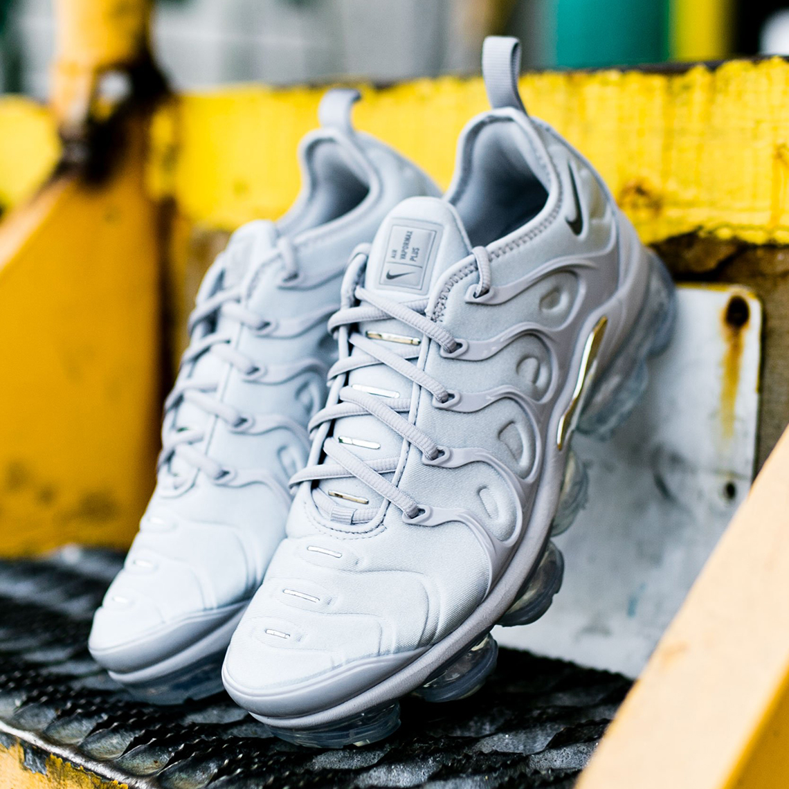 on sale eed9c b6f4e ... hit of metallic silver on its midfoot shank. Fans of this distinguished  new Vapormax Plus can log onto select retailers like Rock City Kicks and  pick up ...