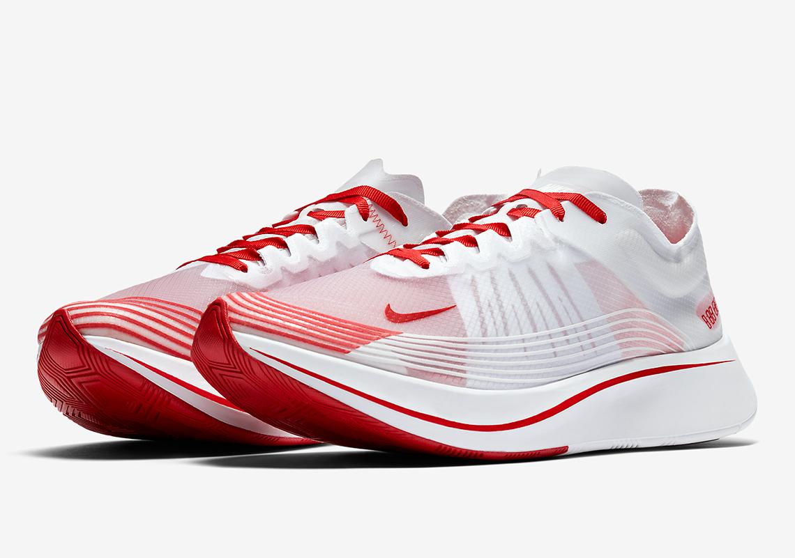 Nike Zoom Fly SP White/Red AJ9282-100