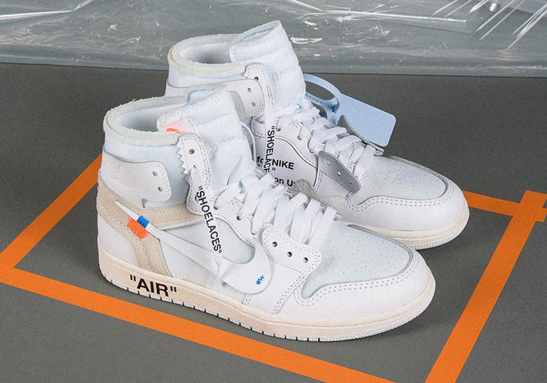 promo code c97ee 0e8f4 OFF WHITE Air Jordan 1 AQ0818-100 AQ8296-100 Release Info ...
