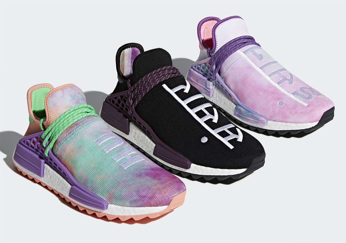 "876beb36ef5a The Pharrell x adidas NMD Hu ""Holi Festival"" Pack Releases On March 16th"