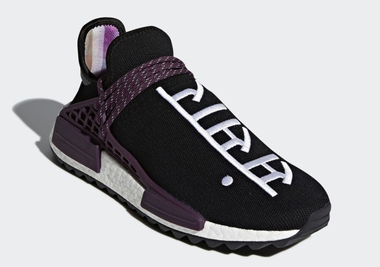 "Official Images Of The Pharrell x adidas NMD Hu ""Holi Festival"" In Black"