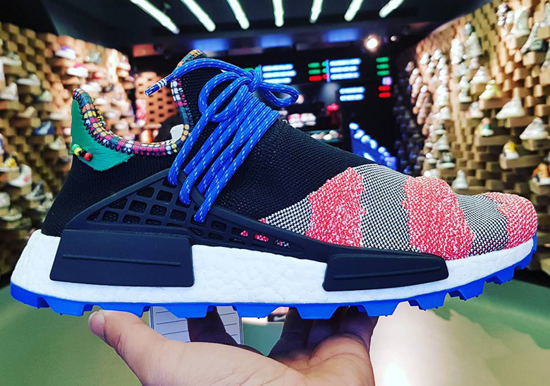 "online retailer b5af3 bf6fa Early Look At the Pharrell x adidas NMD Hu ""Afro Pack"""