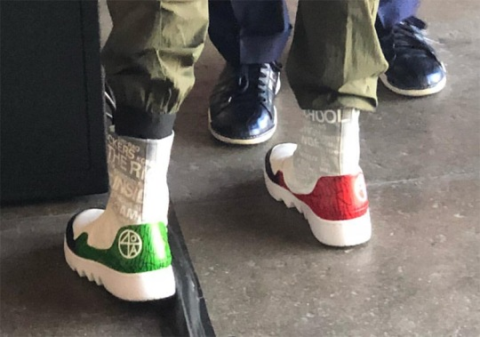 "Spike Lee Spotted In PE Version Of The Air Jordan 1 Reimagined ""Jester"""