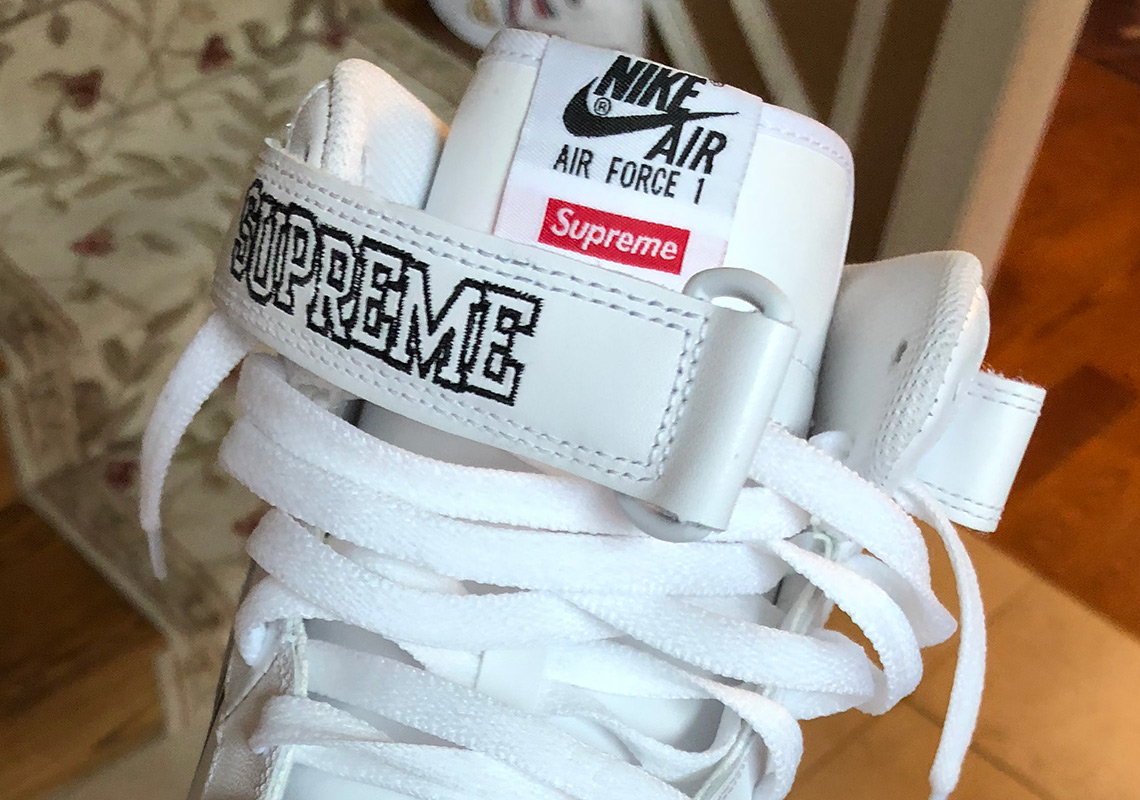 cheap for discount 93f2e 933f6 Closer Look At The Supreme x Nike Air Force 1 Mid With NBA Logos