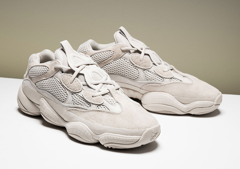 """6a253df640554 adidas Yeezy 500 Desert Rat """"Blush"""" To Release At 747 Warehouse St."""