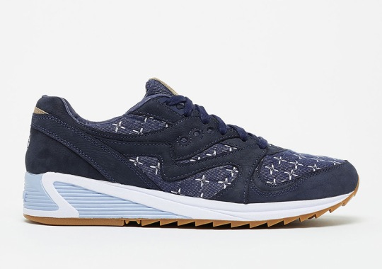 Up There Presents The Saucony Grid 8000 In Sashiko Styling