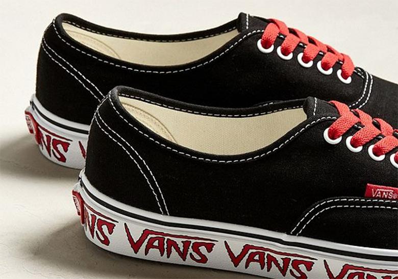 Bonito Vans Sketch Sidewall Authentic Black Red Comprar En Linea Footlocker Venta En Línea Finishline KrJEUPfE