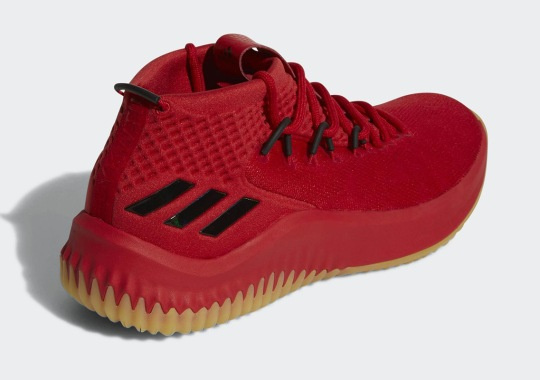huge discount 92f86 a4711 The adidas Dame 4 In Red And Gum Is Coming Soon