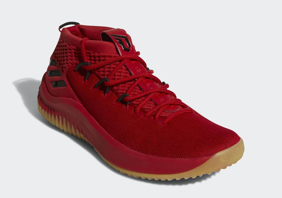 adidas dame 4 red
