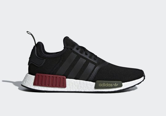 The Classic adidas NMD R1 Arrives With Burgundy And Olive Bumpers