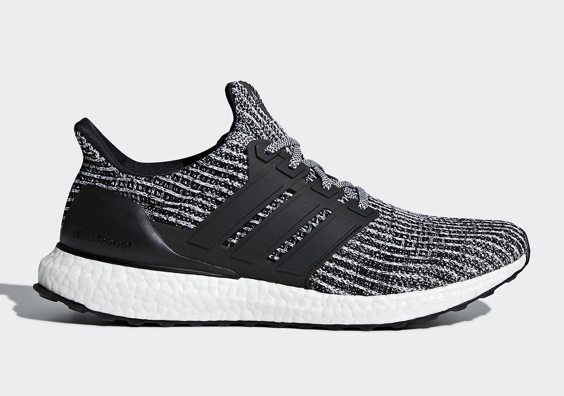 aa9ae00a1 Mens Adidas Ultra Boost 4.0 Cookies And Cream Core Black Running White  BB6179
