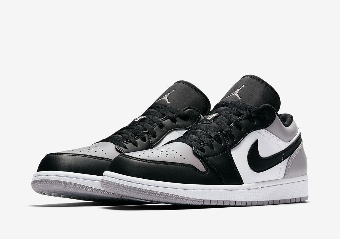 Air Jordan 1 Low $110. Color: White/Atmosphere-Black