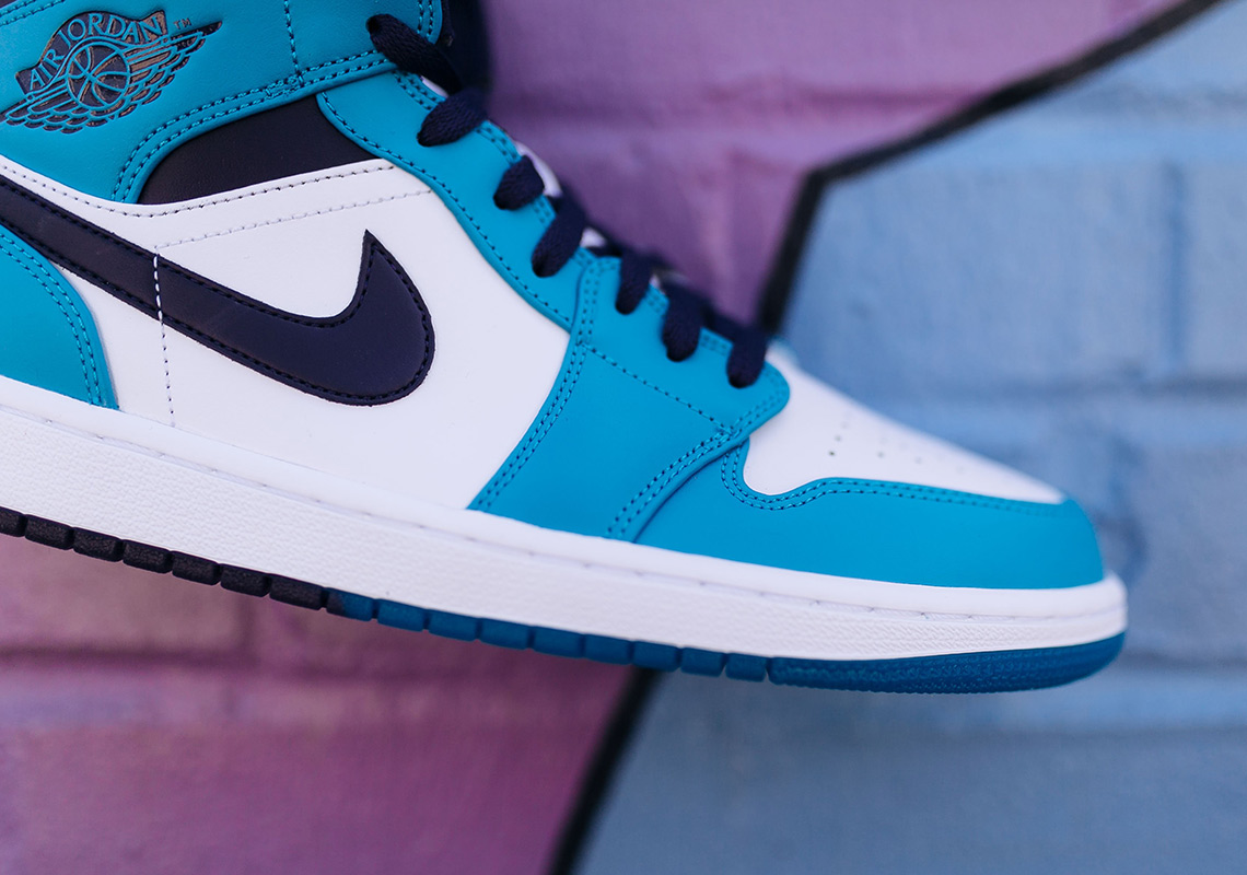 new style cd9fa a7fe0 ... inexpensive air jordan 1 mid 110. color blue lagoon grand purple white.  show comments