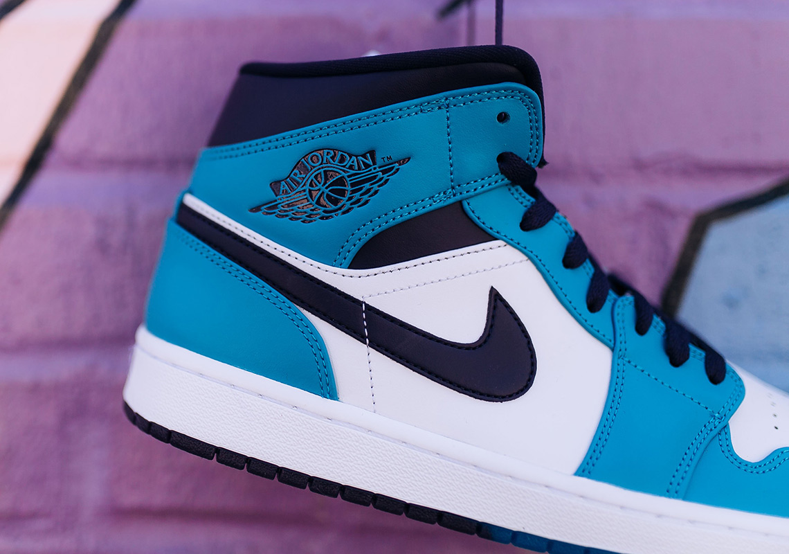 d32451952d9 Air Jordan 1 Mid $110. Color: Blue Lagoon/Grand Purple/White